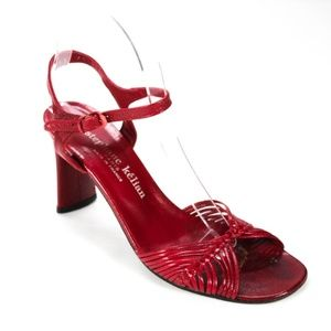 Adorable Stephane Kelian Red Leather Sandals